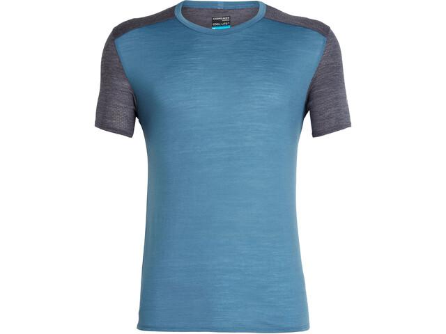 Icebreaker Amplify Koszulka do biegania z krótkim rękawem Mężczyźni niebieski
